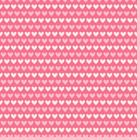 Heart shape vector seamless pattern (tiling). Pink and white color. Endless texture can be used for printing onto fabric and paper or scrap booking. Valentines day background for invitation. Vector