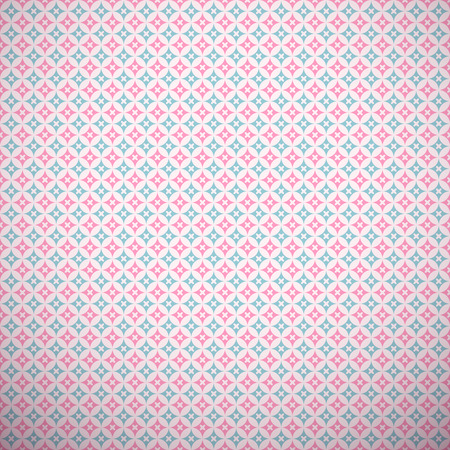 pink stripes: 10 Chic different vector seamless patterns (tiling). Pink and blue color. Endless texture for printing onto fabric, paper, scrap booking. Wave, flower and dot shape. Pretty cute print background.