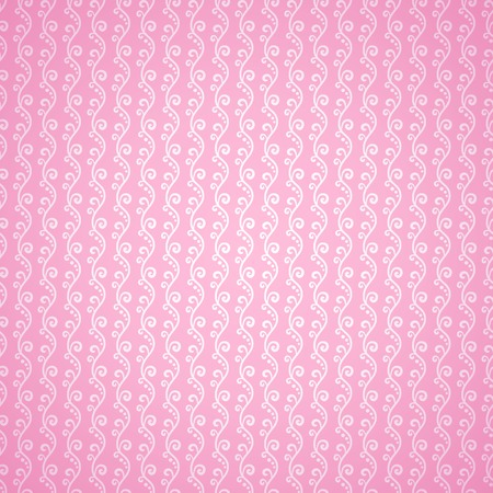 Pink cloth texture background. Vector illustration for your lovely design. Book cover. Fabric bright romantic canvas wallpaper with delicate floral wave pattern with dot. Fabric and paper. Vector