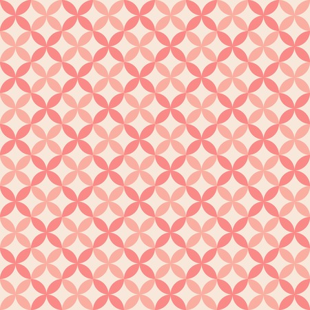 Pretty pastel vector seamless pattern (tiling, with swatch). Endless texture can be used for wallpaper, fill, web background, texture. Abstract cute ornament. Red and pink colors.