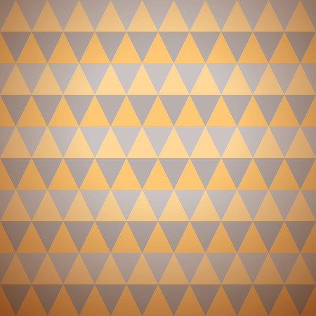 Soft vector pattern (tiling). Endless texture for wallpaper, fill, web page background, texture. Delicate geometric ornament. Yellow, grey shabby colors. Triangular shape. Tribal ornament. Vector