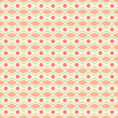 Feminine vector seamless pattern (tiling). Fond pink, yellow and blue colors. Endless texture can be used for printing onto fabric and paper or invitation. Wave, dot, stripe shapes.