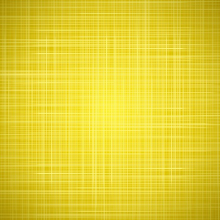 Yellow cloth texture background. Vector illustration for your bright funny design. Book cover. Fabric bright ecological canvas wallpaper with delicate striped pattern. Vector