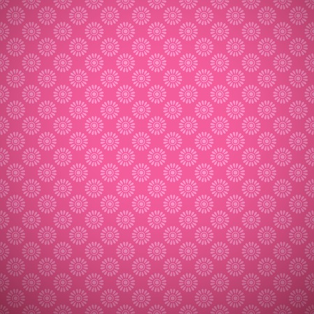 cute teen girl: Bright girl vector pattern  tiling   Pink color  Endless texture can be used for printing onto fabric and paper or scrap booking  Floral and dot shapes