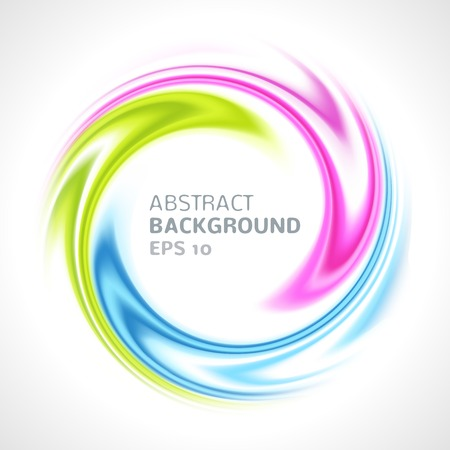 Abstract colorful swirl circle bright background  Vector illustration for you modern funny design  Round frame or banner with place for text Banco de Imagens - 29599829