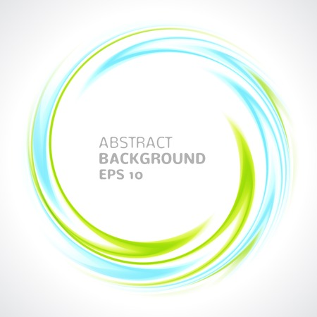 circle design: Abstract light blue and green swirl circle bright background  Vector illustration for you modern design  Round frame or banner with place for text