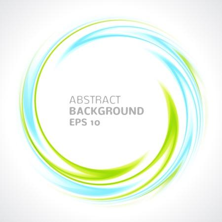 verde: Luz abstracta remolino azul y verde fondo círculo brillante ilustración vectorial para usted diseño moderno Marco redondo o banner con el lugar para el texto Vectores