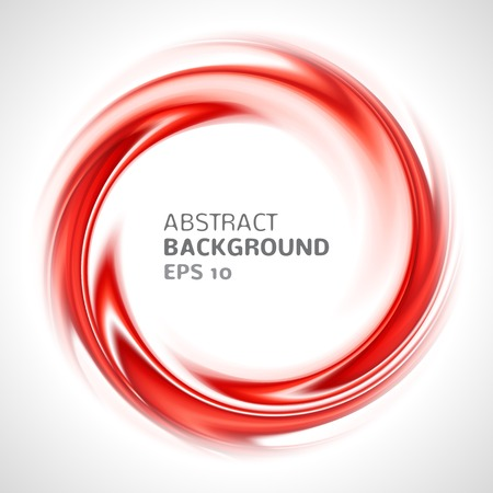 Abstract red swirl circle bright background  Vector illustration for you modern design  Round frame or banner with place for text  Ilustração