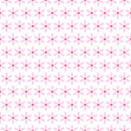 Light summer vector seamless pattern  tiling   Fond pink, white and yellow colors  Endless texture can be used for printing onto fabric and paper or invitation  Flower and dot shapes 版權商用圖片 - 30139815