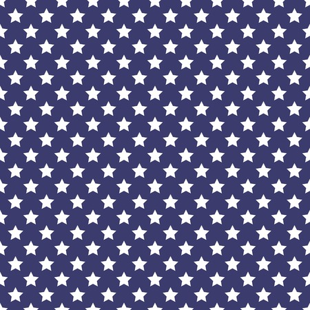 Patriotic white and blue geometric seamless pattern. Vector with American symbol. USA flag.