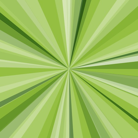 Green rays background. Vector illustration for your bright beams design. Sun theme abstract wallpaper. Vector
