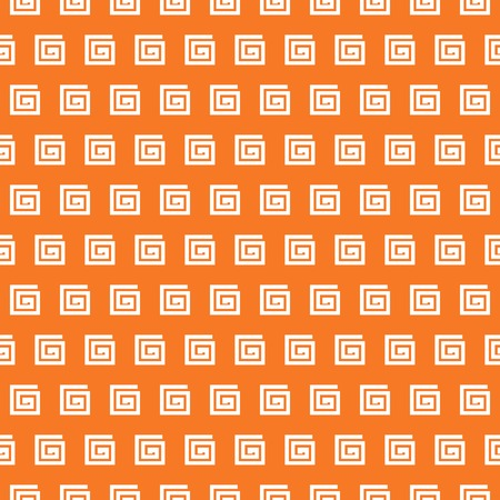 grecian: Greek vector seamless pattern. Orange and white colors. Endless texture can be used for printing onto fabric and paper or invitation. Abstract geometric shapes. Illustration