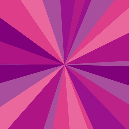 Purple, red and pink rays background. Vector illustration for your bright beams design. Sun theme abstract wallpaper. Vector