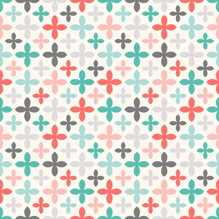 Floral vector seamless pattern. Endless texture can be used for printing onto fabric and paper or scrap booking. Retro colors.