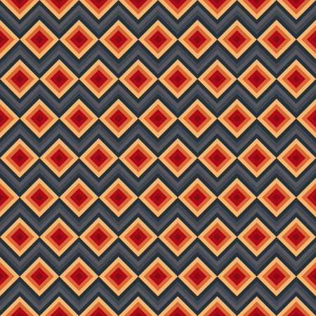 Modern elegant zig zag and rhombus seamless pattern.  Vector