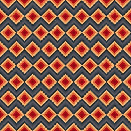 zig: Modern elegant zig zag and rhombus seamless pattern.
