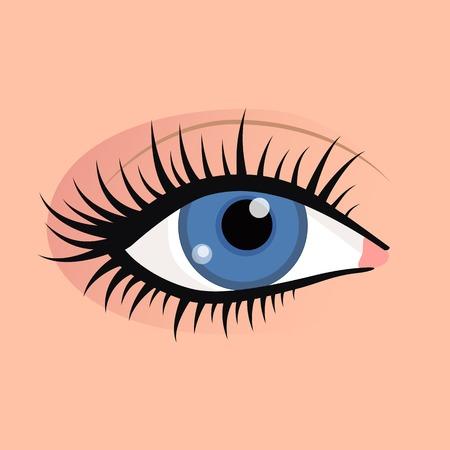 Open female eyes image with beautifully fashion make up.