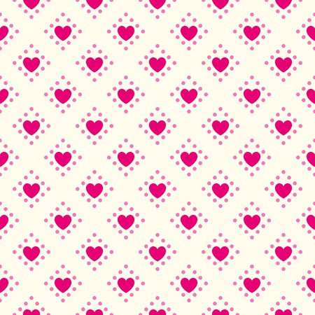 Herzform Vektor Nahtlose Muster. Rosa Und Weißen Farben ...