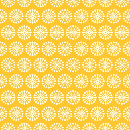 Vintage different vector seamless pattern. Endless texture for wallpaper, fill, web page background, surface texture. Monochrome geometric ornament. Yellow, white shabby colors.