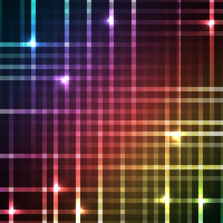 rainbow stripe: Abstract bright spectrum wallpaper. Vector illustration for modern disco design. Cool pattern background. Rainbow and black colors. Line stripe with lights and glows.
