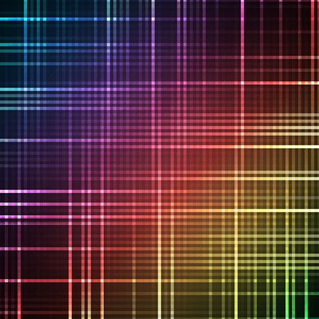 glows: Abstract bright spectrum wallpaper. Vector illustration for modern disco design. Cool pattern background. Rainbow and black colors. Line stripe with lights and glows.