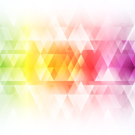 rainbow colors: Abstract bright background. Vector illustration for modern design. Spectrum rainbow colors. Triangle border pattern. Invitation or greeting card design. Gradient colorful wallpaper with space for message.