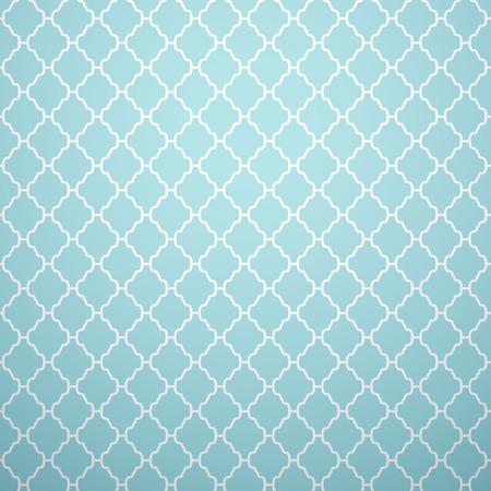 Vintage vector naadloze patroon. Eindeloze textuur voor behang, vult, webpagina achtergrond, oppervlaktestructuur. Monochroom geometrische ornament. Blauwe en witte shabby pastelkleuren.