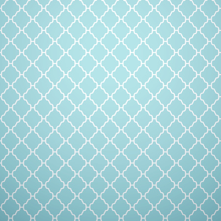 Vintage vector seamless pattern. Endless texture for wallpaper, fill, web page background, surface texture. Monochrome geometric ornament. Blue and white shabby pastel colors. Illustration