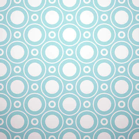 circle shape: Vintage vector seamless pattern. Endless texture for wallpaper, fill, web page background, surface texture. Monochrome geometric ornament. Blue and white shabby pastel colors. Illustration