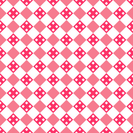 scrap: Heart shape vector seamless pattern. Pink color. Endless texture can be used for printing onto fabric and paper or scrap booking. Valentines day background for invitation. Illustration