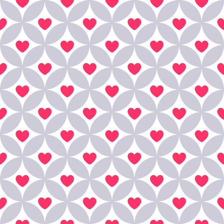 onto: Heart shape vector seamless pattern. Pink color. Endless texture can be used for printing onto fabric and paper or scrap booking. Valentines day background for invitation. Illustration