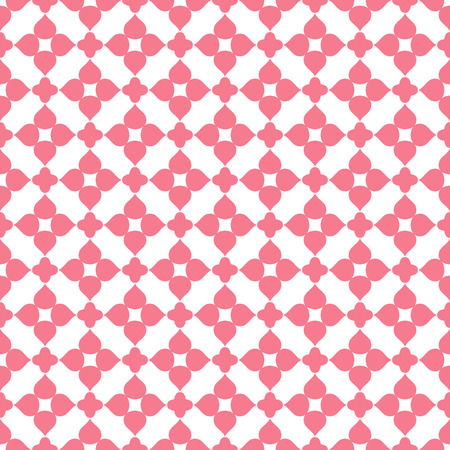 Heart shape vector seamless pattern. Pink color. Endless texture can be used for printing onto fabric and paper or scrap booking. Valentines day background for invitation. Vector