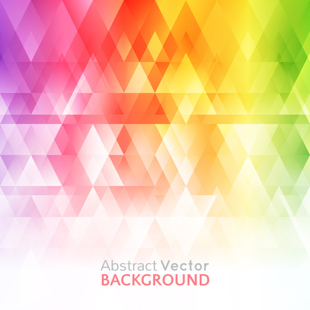 rainbow vector: Abstract bright background. Vector illustration for modern design. Spectrum rainbow colors. Triangle border pattern. Invitation or greeting card design. Gradient colorful wallpaper with space for message.