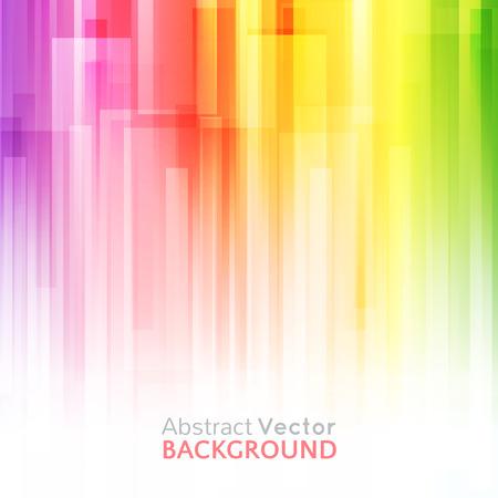 Abstracte heldere achtergrond. Vector illustratie voor een modern design. Spectrum kleuren van de regenboog. Streepgrens patroon. Uitnodiging of wenskaart ontwerp. Gradiënt kleurrijke behang met ruimte voor bericht. Stock Illustratie