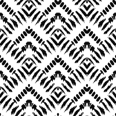Hand drawn art deco painted seamless pattern. Vector illustration for tribal design. Ethnic motif. For invitation, web, textile, wallpaper, wrapping paper. Vector