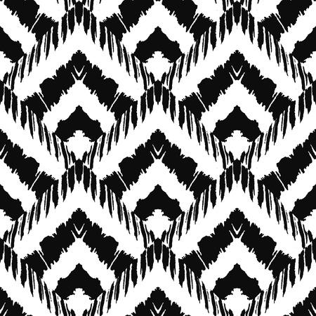 Hand getrokken art deco geschilderd naadloos patroon. Vector illustratie voor tribal design. Etnisch motief. Voor de uitnodiging, web, textiel, behang, inpakpapier. Stock Illustratie