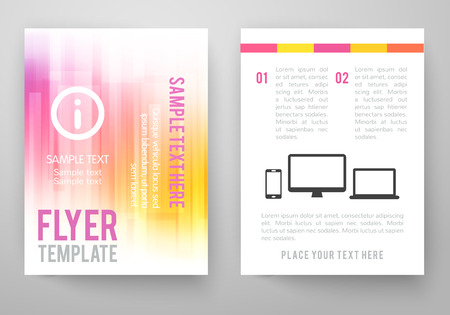 Set of abstract bright background for flyer, brochure template. Vector illustration for modern design. Mobile technologies, applications and online services infographic concept. Vector