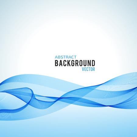 Abstracte blauwe golf op een witte achtergrond. Vector Illustratie