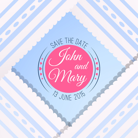 holiday picture: Blue background with vintage realistic pink, blue and white lace. Vector illustration for your lovely design. Abstract holiday picture. Save the date. Invitation for wedding. Illustration