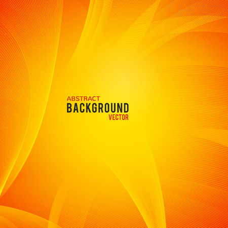 at yellow: Abstract  background. Vector illustration for modern business design. Futuristic wallpaper. Yellow and orange colors. Cool element for presentation, card, flyer and brochure.
