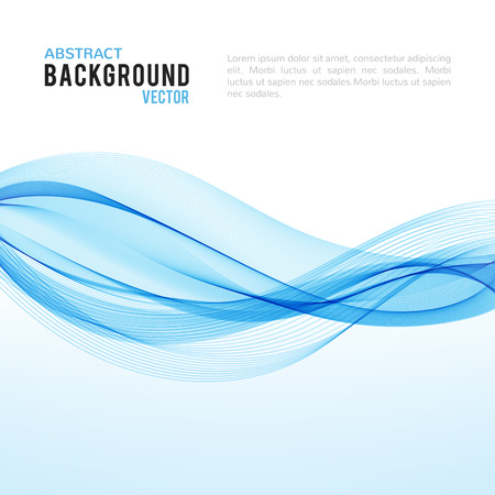 Abstract blue wave isolated on white background. Vector illustration for modern business design. Futuristic wallpaper. Cool element for presentation, card, flyer and brochure. 矢量图像