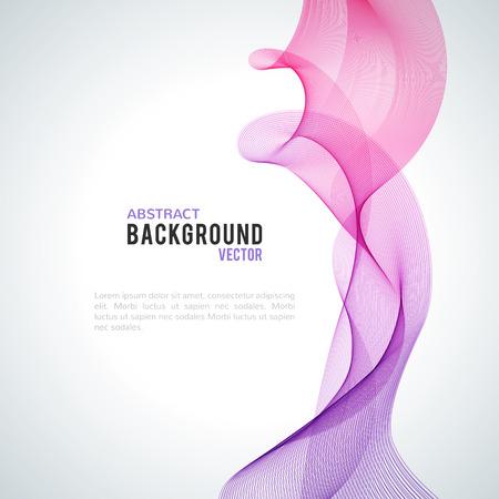 白い背景に分離された抽象的な紫の波。現代ビジネス設計上のベクトル図です。未来的な壁紙。プレゼンテーション、カード、チラシ、パンフレッ