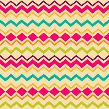 Ethnic tribal zig zag and rhombus seamless pattern Vector