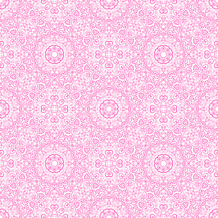 fond: Beautiful pink ornamental background. Vector illustration for your romantic fashion design. Fond fine greeting card, postcard with floral ornaments, excellent element for menu and invitation.