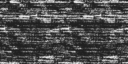 グランジ テクスチャのシームレス パターン。ビンテージ デザインのベクトル図です。黒と白の色です。手で抽象的な背景は、ブラシ ストロークを