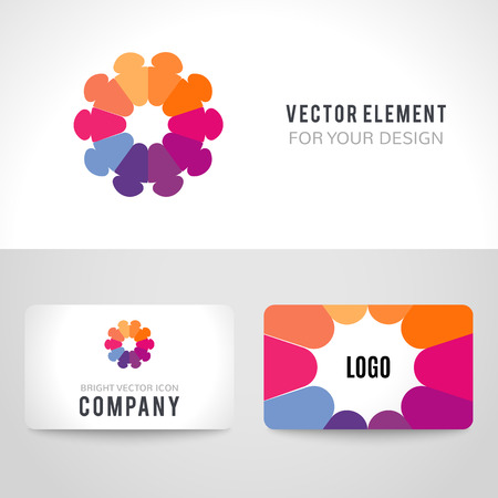 family unity: Business card template set.  Illustration