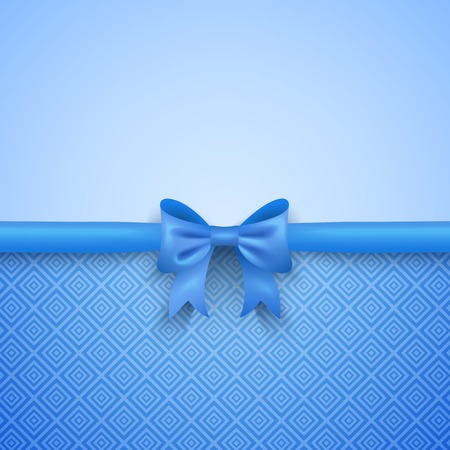 romantic woman: Romantic  blue background with cute bow and pattern. Pretty design. Greeting card wallpaper for valentine day, birthday or woman day.