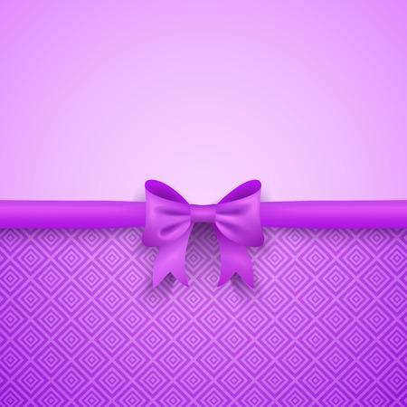 morado: Fondo púrpura romántica con el arco lindo y patrón. Diseño bonito. Fondo de pantalla Tarjeta de felicitación para el día de San Valentín, cumpleaños o día de la mujer.