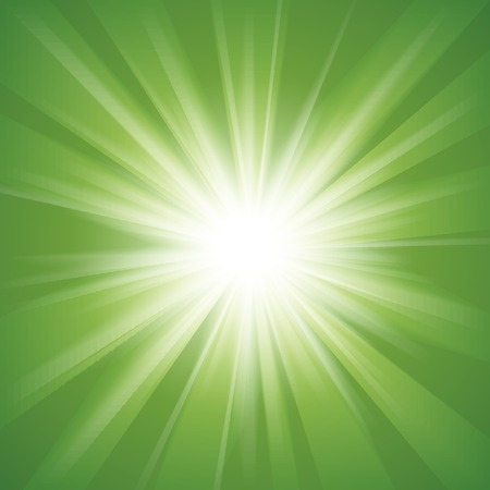Green and white abstract magic light background.  illustration for your majestic design. Element for web design. Stock Photo