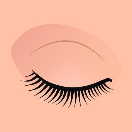 Close female eyes image with beautifully fashion make up.  illustration for health glamour design. Woman eyes. Stock Photo
